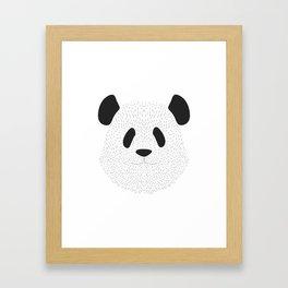 Pandas's face Framed Art Print