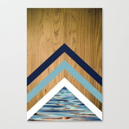 Wood Water Waves Geometric Hipster Triangels Canvas Print