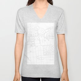 Abstract Map of UC Berkeley Campus Unisex V-Neck