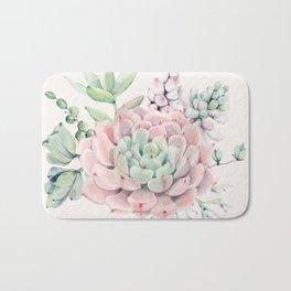 Perfect Pink Succulent Bath Mat