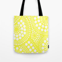 yellow pattern Tote Bags featuring Pattern Yellow by Wildflowers and Grace