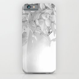 Hydrangea Still Life in Black and White #decor #society6 #buyart iPhone Case