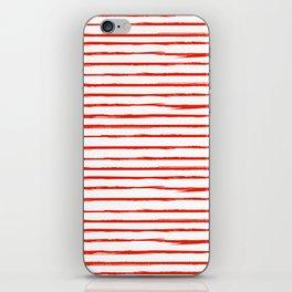 Broken Lines Pattern Red iPhone Skin