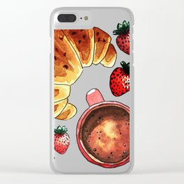 Breakfast, maybe! Clear iPhone Case
