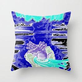 Doctor Monster goes Ba-Doom! Throw Pillow