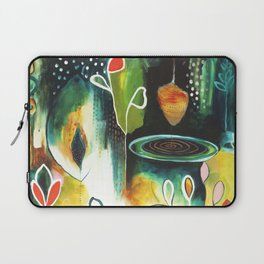 """""""Deep Growth"""" Original Painting by Flora Bowley Laptop Sleeve"""
