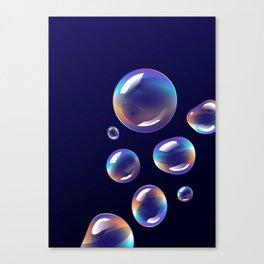 Holographic Bubbles Canvas Print