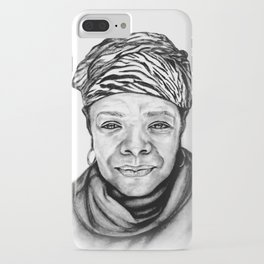 Maya Angelou - BW Original Sketch iPhone Case