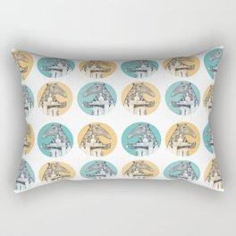 Tea time starts now - Malayan Tapir - Bule Rectangular Pillow