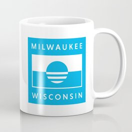 Milwaukee Wisconsin - Cyan - People's Flag of Milwaukee Coffee Mug
