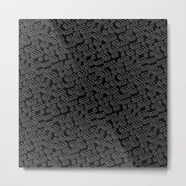Building Blocks Pattern – Noir Metal Print