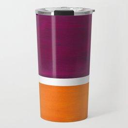Purple Wine Yellow OchreMid Century Modern Abstract Minimalist Rothko Color Field Squares Travel Mug