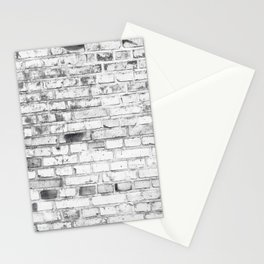 Withe brick wall Stationery Cards