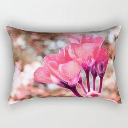 Coral Pink Flowers Rectangular Pillow