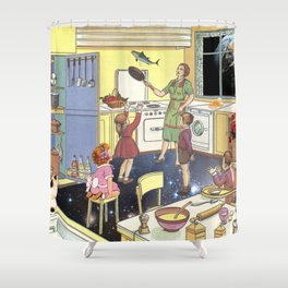 THE DINNER IS READY!  Shower Curtain
