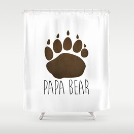 Papa Bear Shower Curtain