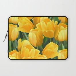 Yellow Tulips Field Laptop Sleeve