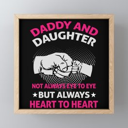 Father And Daughter Framed Mini Art Print