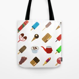 80s Italian ICE CREAM random Tote Bag