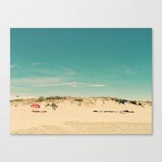 Red Umbrella Summer Canvas Print