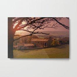 Dawn On The Farmstead  Metal Print