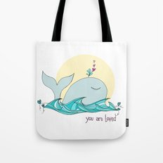 You Are Loved From The Deep Blue Sea Tote Bag