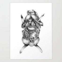 Rabbit Dissection Art Print