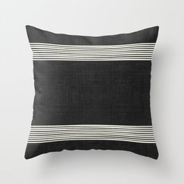 Band in Black and White Throw Pillow