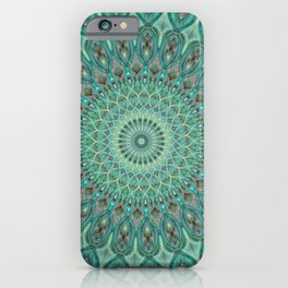 Mint Dreams Mandala iPhone Case