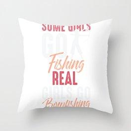 Real Girls go Bowfishing Bow Fish Hunting Throw Pillow