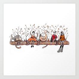 Log Dream Art Print