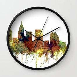 Atlanta, Georgia Skyline - SG - Safari Buff Wall Clock