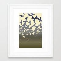 flight Framed Art Prints featuring Flight by NKlein Design