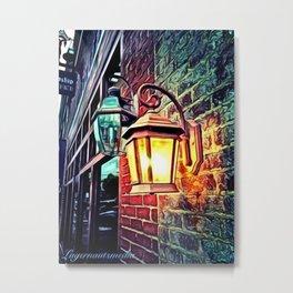 KINGSPORT TN - SHOP LANTERN 1 - SWIRL Metal Print