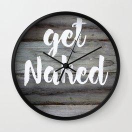 Abstract - Get Naked Wall Clock