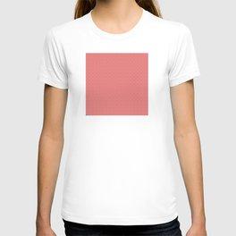 Pink Salmon (Saumon) Tres Petit Geometric Pattern T-shirt