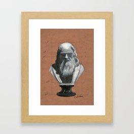 Leonardo Da Vinci Bust Portrait Framed Art Print