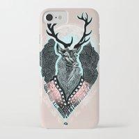 wind iPhone & iPod Cases featuring Wind:::Deer by Süyümbike Güvenç