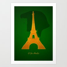 A is for Ameilé Art Print