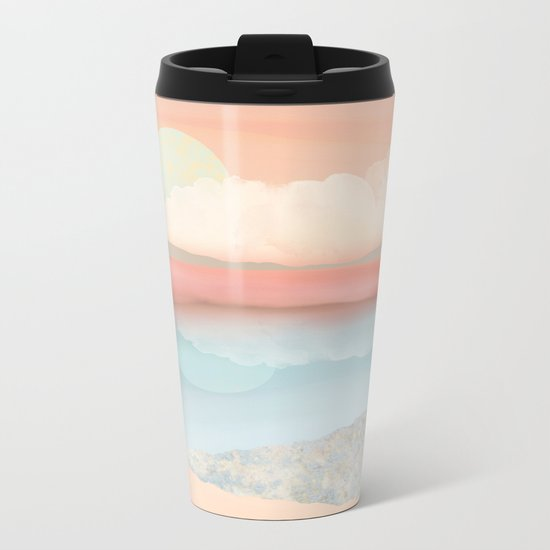 Mint Moon Beach Metal Travel Mug