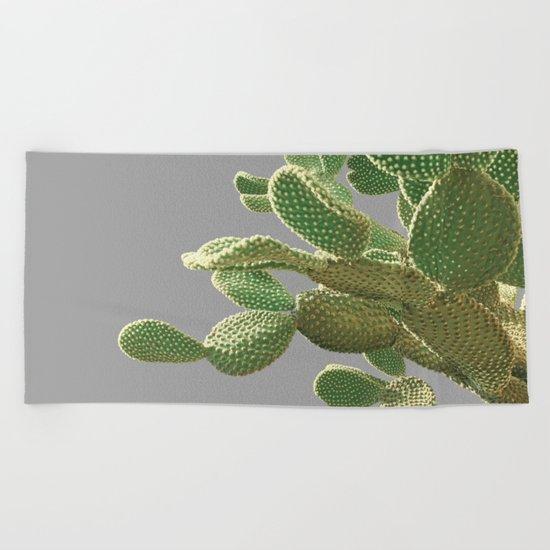 Minimal Cactus Beach Towel