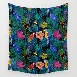 Tropical Birds and Botanicals Wall Tapestry