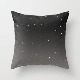 Keep On Shining - Starry Sky Throw Pillow