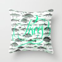 pisces Throw Pillows featuring Pisces by Srg44