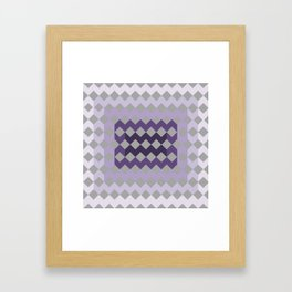 Grey Purple Quilt Framed Art Print