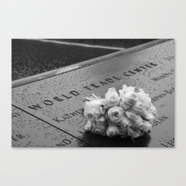 White Roses at the WTC Memorial Canvas Print