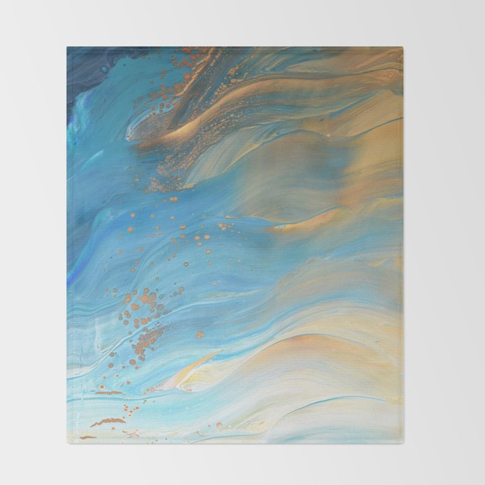 691280b2a9f Fairy Wings  Acrylic Pour Painting Throw Blanket by bethanyjoydesign ...