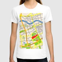 Shanghai Map Design T-shirt