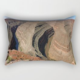 The Goosnecks - A Meander Of The San Juan River Rectangular Pillow