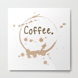 coffee cup splatter Metal Print